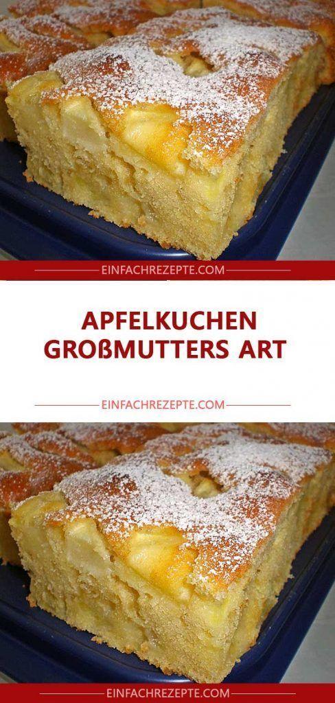 Apfelkuchen-Oma-Stil Apfelkuchen-Oma-Kunst   – funnyfish