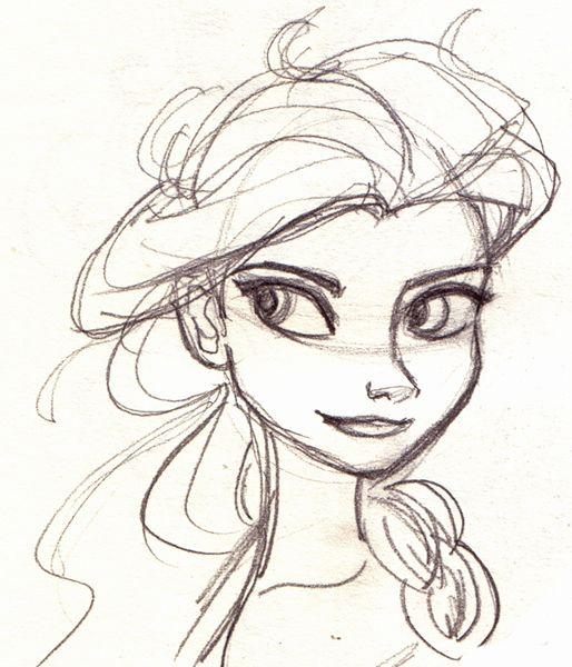 Elsa scketches by Isabel Hierro. #Frozen #Disney