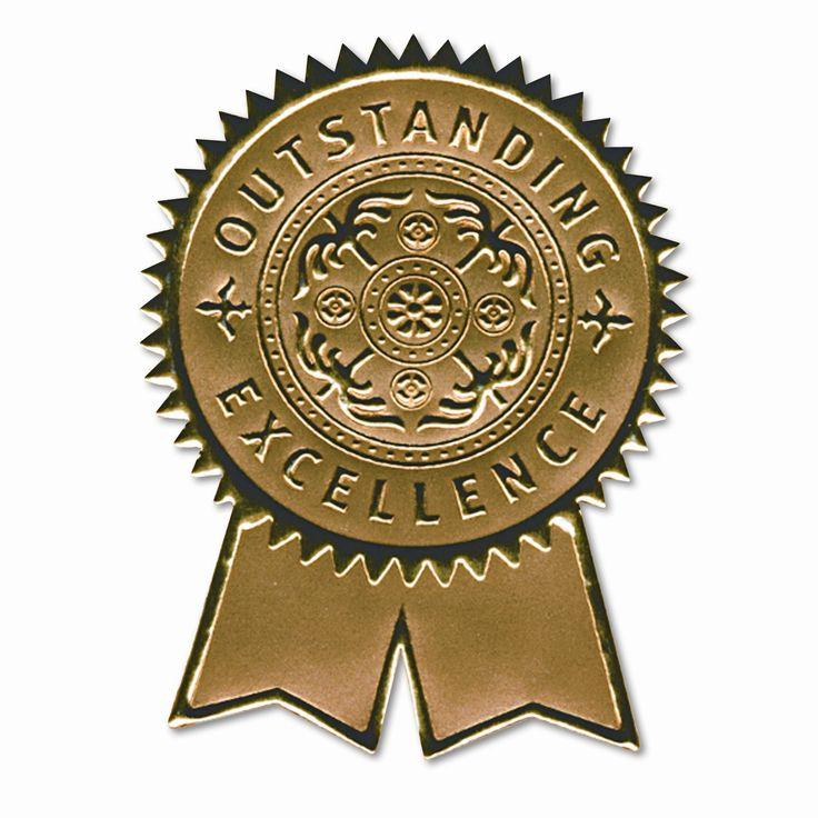 Certificate Seals Embossed Foil 12 Pack Set Of 2