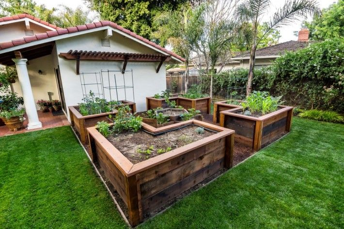 Simple Gardening Ideas With L Shaped Solid Wood Raised Garden As Well As Gardens With Raised Beds Plus Build Above Ground Garden, Gorgeous Cheap Raised Garden Beds Design