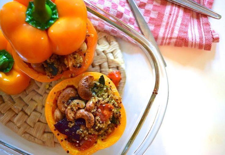 Skinny+oranje+paprika+met+quinoa