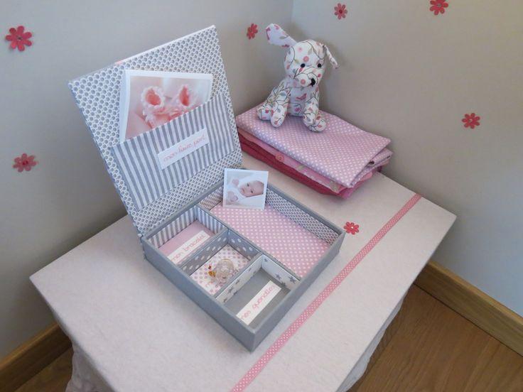 boite de naissance fille personnalisable pour ranger tous les premiers souvenirs de votre bébé : Puériculture par jymci-creations