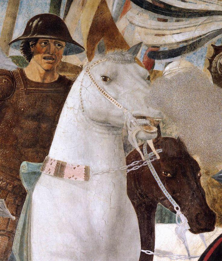 PIERO DELLA FRANCESCA - (1415 - 1492)   Constantine's Victory over Maxentius (detail). Fresco, 322 x 764 cm San Francesco, Arezzo, Italy.