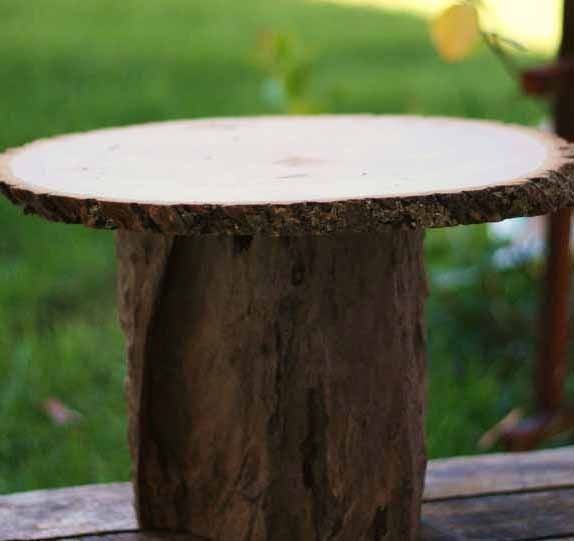 Large Natural Rustic Wood Stump Stand I Want To Make These