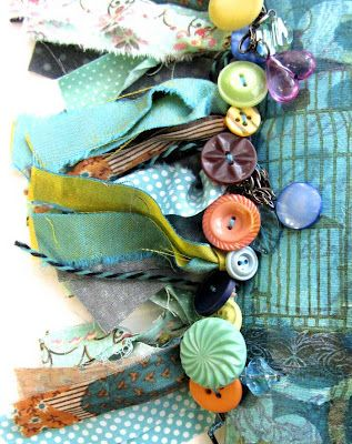 buttons on the spine of a journal. This would make a cute cute trim!