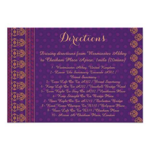 Invitation - Directions card