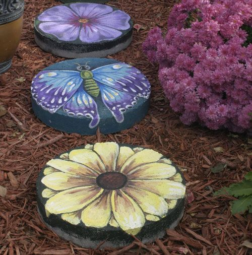 Painted Stepping Stone Craft