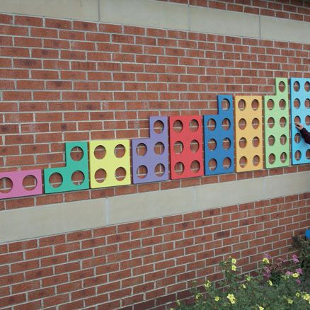 Take learning outdoors with these colourful, giant number frames!