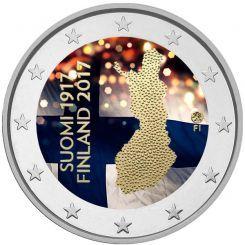 2 Ευρώ, Έγχρωμο, Φινλανδία, 100η επέτειο της ανεξαρτησίας της Φινλανδίας, 2017