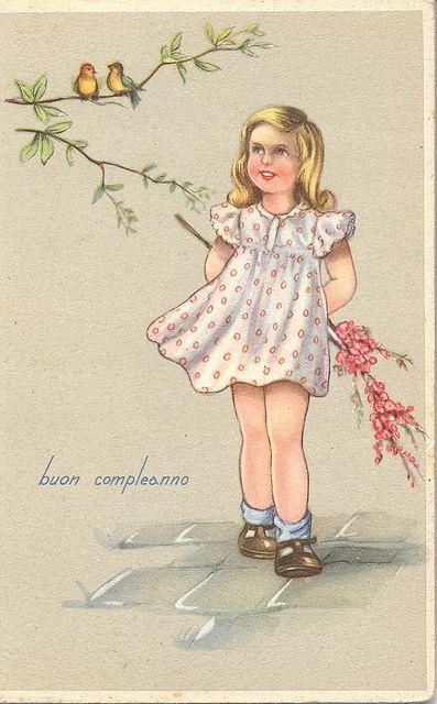 Postcard - buon compleanno