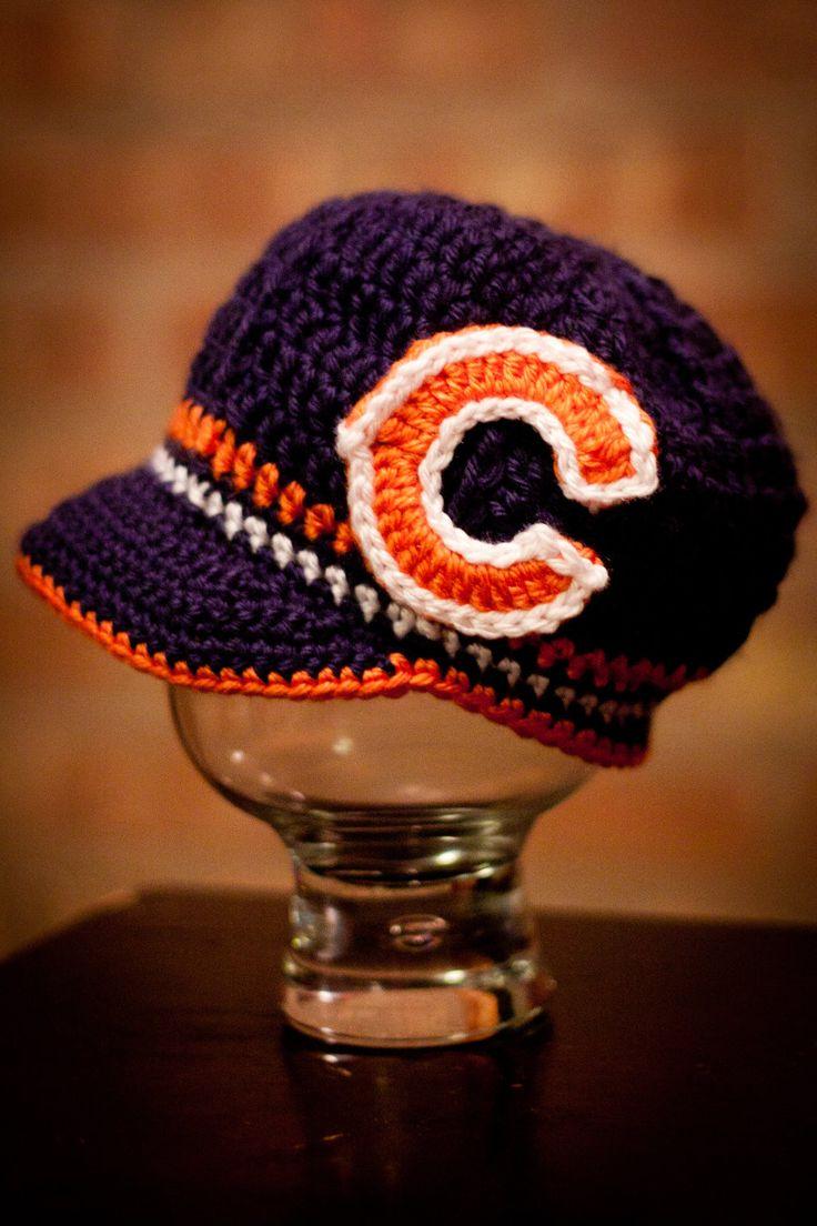 Free Crochet Pattern For Chicago Bears C : 1000+ images about Crochet Chicago Bears on Pinterest ...