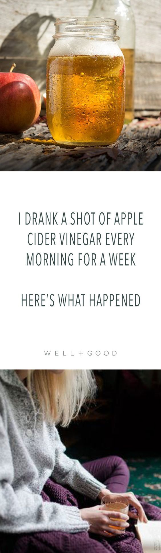 The benefits of drinking apple cider vinegar ACV every morning