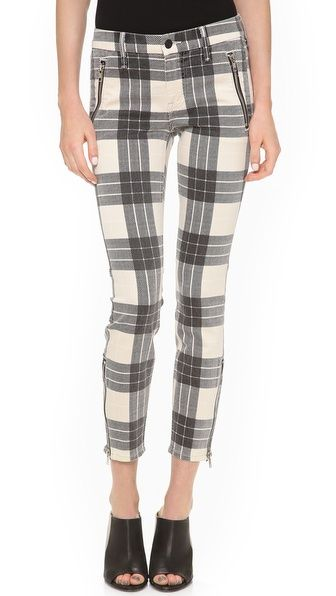 MOTHER The Muse Cropped Skinny Pant with Zips from shopbop.com $257.44