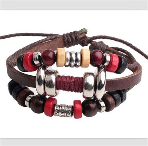 Leather bracelet, adjusting closure