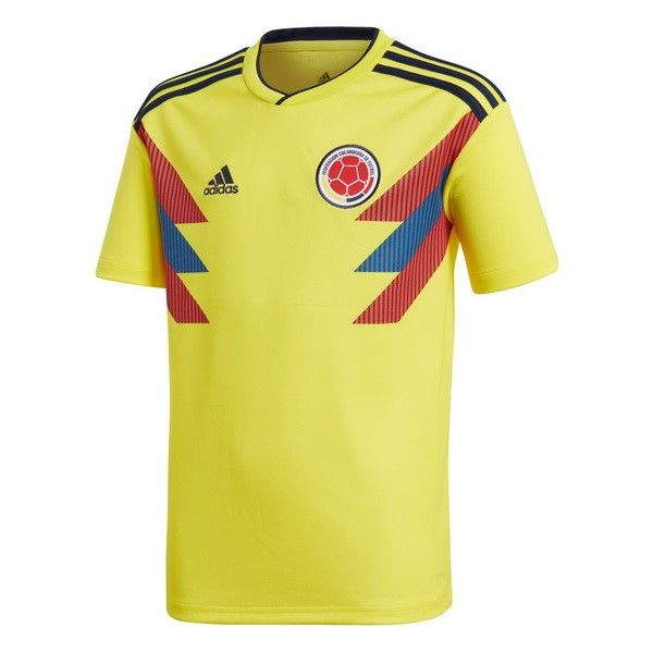 adidas 2018 2019 Colombia Home Football Soccer T Shirt Jersey
