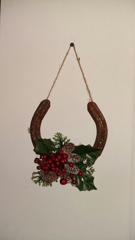Horseshoe Christmas decoration