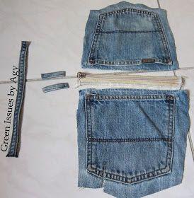Aprendam como reciclar os bolsos das calças de ganga e fazer um belo porta moeda. O artesanato reciclado é fácilde fazer e em minutos ...