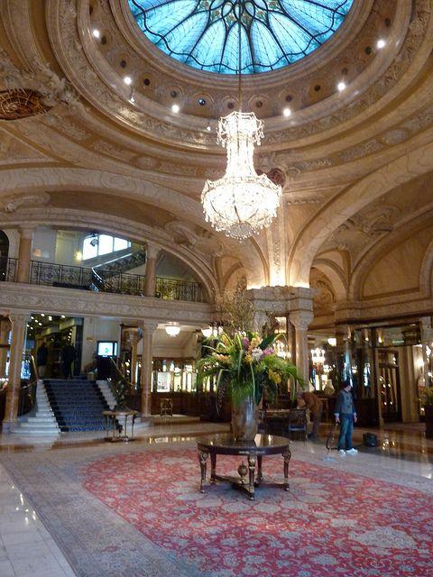Hotel De Paris Monte Carlo Monaco Lobby France Places