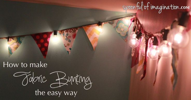 how to make fabric bunting the EASY sewn way