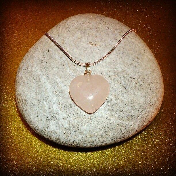 Silver + SemiPrecious Heart PENTANT Collection - ROSE QUARTZ
