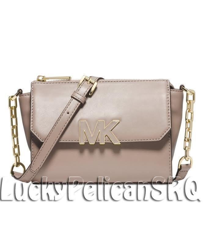 MICHAEL Michael Kors Florence Mini Messenger Crossbody Bag Dark Dune Beige  NWT #MichaelKors #MessengerCrossBody