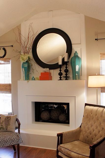 Nice Decor Over The Fireplace Fireplace Mantle Decor