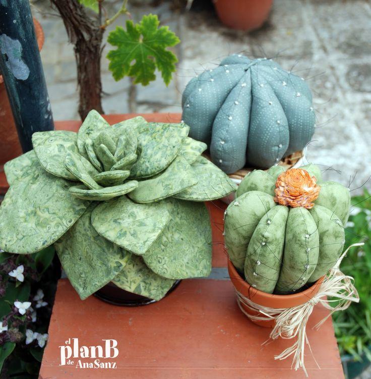Resultado de imagen para cactus de tela paso a paso