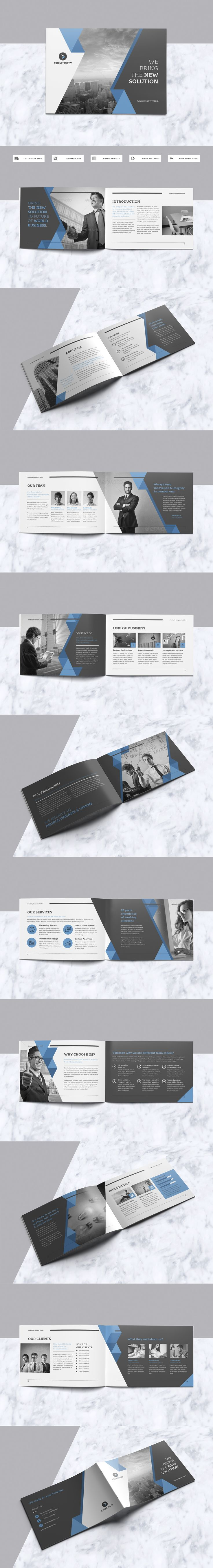 Professional & Modern A5 Brochure Template INDD With 20 Custom Pages Design