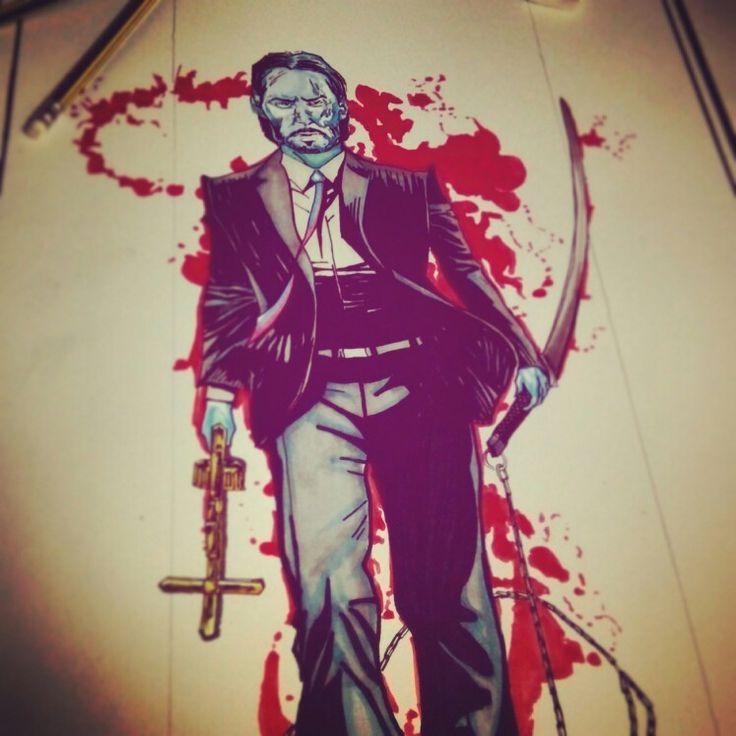 Keanu Reeves fan art W. I. P #johnwick #constantine #47ronin #keanureeves #popart