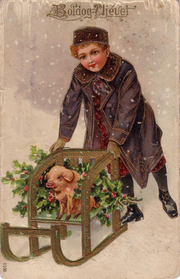Check out these lovely vintage new year s day cards from europe http