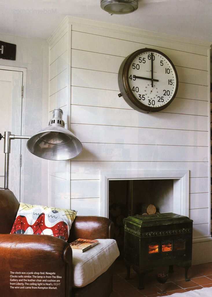 simple fireplace wall