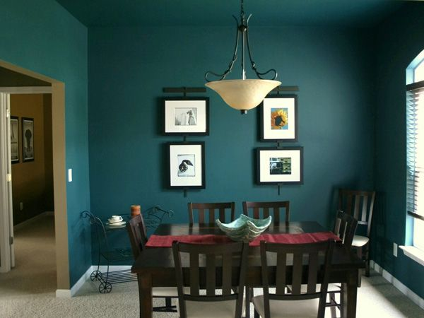 Fantastic Dark Green Color In The Dining Room Listed Orange Black Subject And Blue