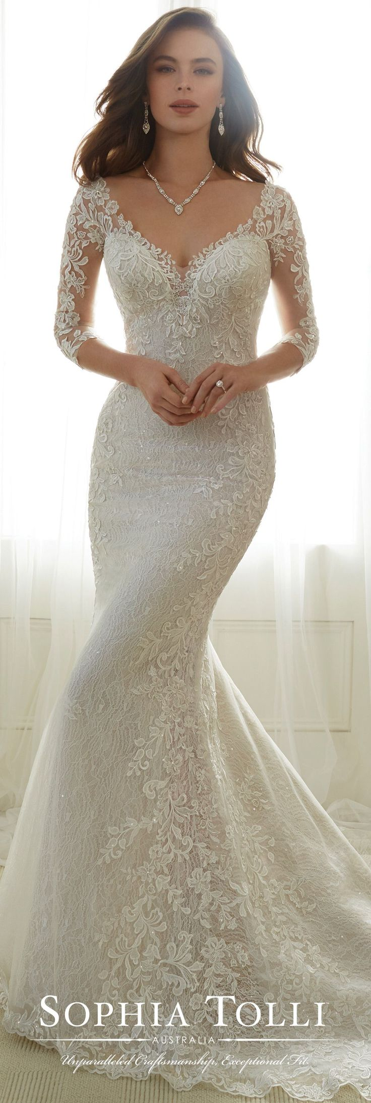 Tulle Soft Trumpet Wedding Gown - Sophia Tolli Y11702 | Trumpets ...