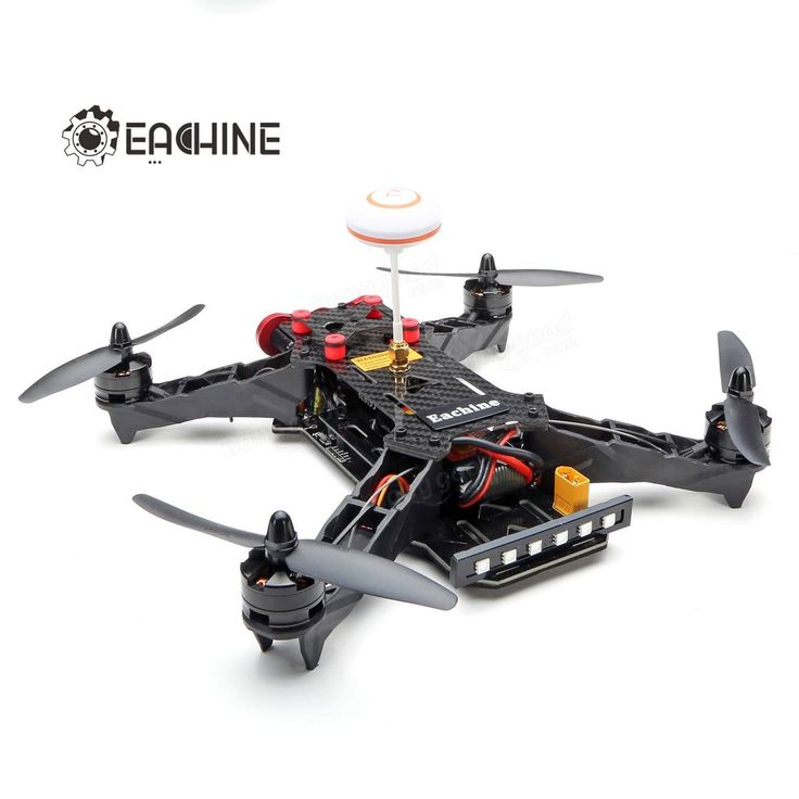 Eachine Racer 250 FPV Drone W I6 24G 6CH Transmitter 7 Inch 32CH