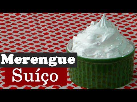 Merengue Suiço - Ótimo para cobrir Torta de Limão, bolos ou mesmo comer como sobremesa   Aqui na Cozinha
