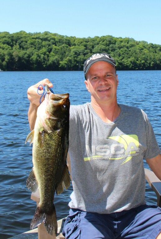 Bass on otter lake while staying at Sunny Point Resort