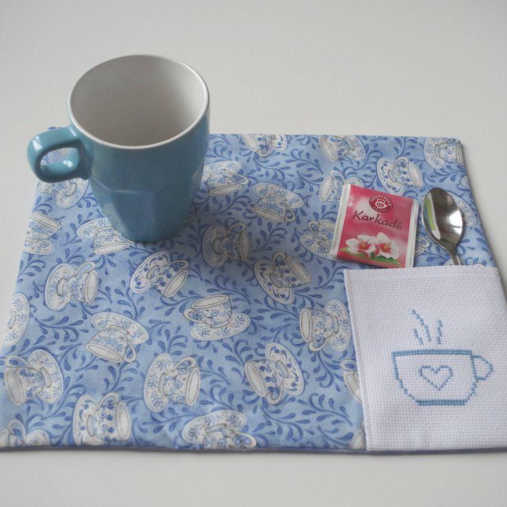 Fabric placemat #teatime #latazzinablu