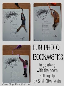 Prompt your kids to pretend they're hanging from a rope before taking their photo - perfect pose for this cute bookmark!