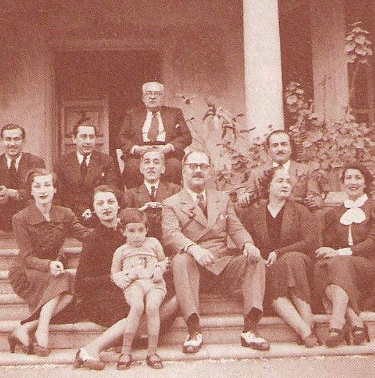 villa kamal  Osmanoglou family reunion circa 1938 at Villa Kamal in Maadi (at the corner or Roads 10 and 82 now several buildings) L-R front row: Princesses Lutfiye, Mukbile with child Ahmed Kamal, Prince Osman Fouad (great-uncle of bestselling author Kenize Murat), al-Sharifa Nimet Haidar, Shukriye Sultan... L-R second row behind Lutfiye Sultan: Prince Nazim and Damat Hassan Kamal, Damat al-Sharif Abdulmejid Haidar, Prince Ali Vasib  seated back: Rashad Kamal's maternal grandfather HIH…