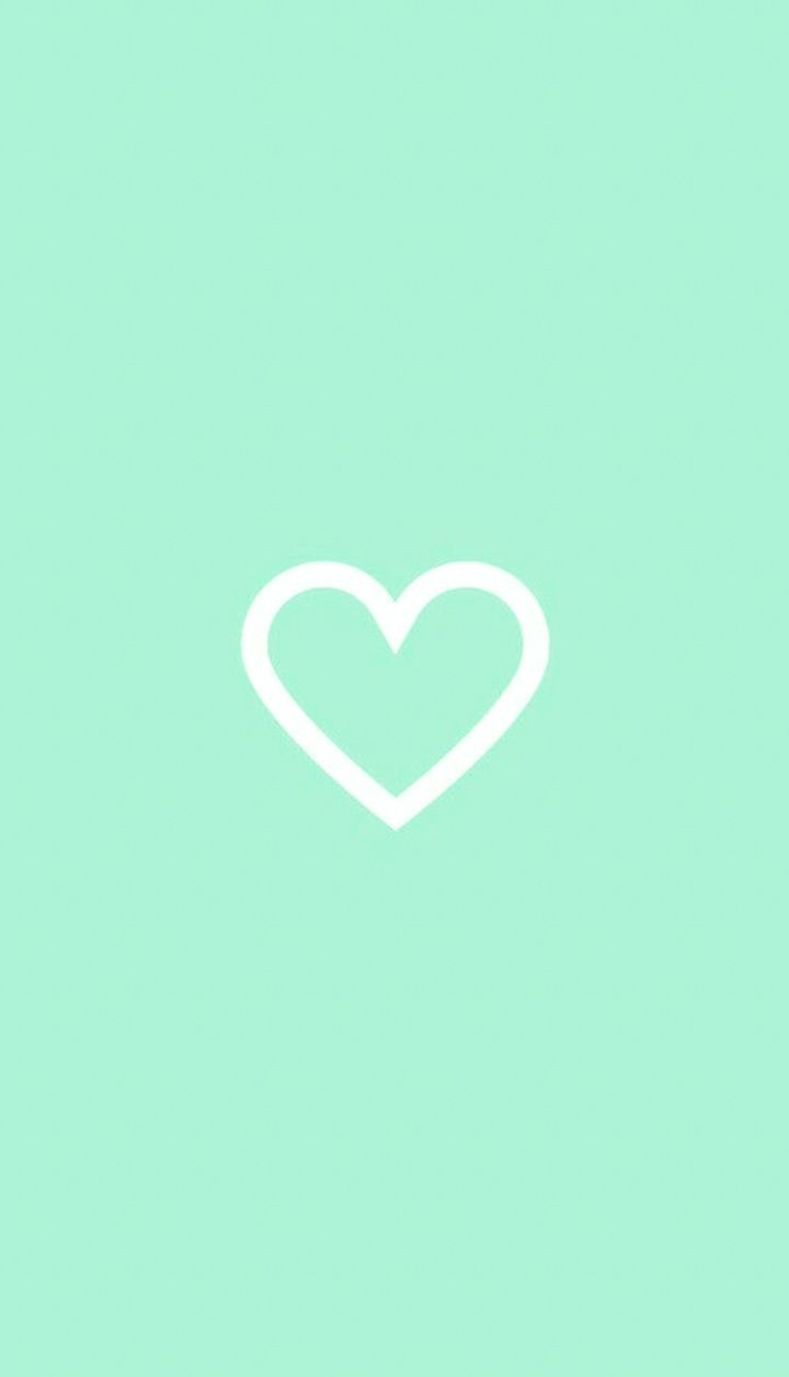 Pin By Denisha On Highlight Mint Green Aesthetic Simple Iphone Wallpaper Heart Wallpaper