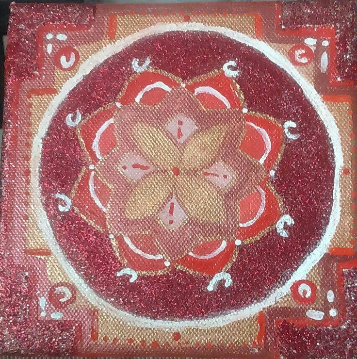MANDALA ART RED PASSION