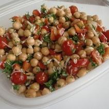 Chickpea Salad with Fresh Herb Vinaigrette | Amy Casey: Side Salad, Yummy Recipe, Herbs Vinaigrette, Fresh Herbs, Vinaigrette Recipe, Chickpeas Salad, Amy Casey, Recipe Amy, Chickpea Salad
