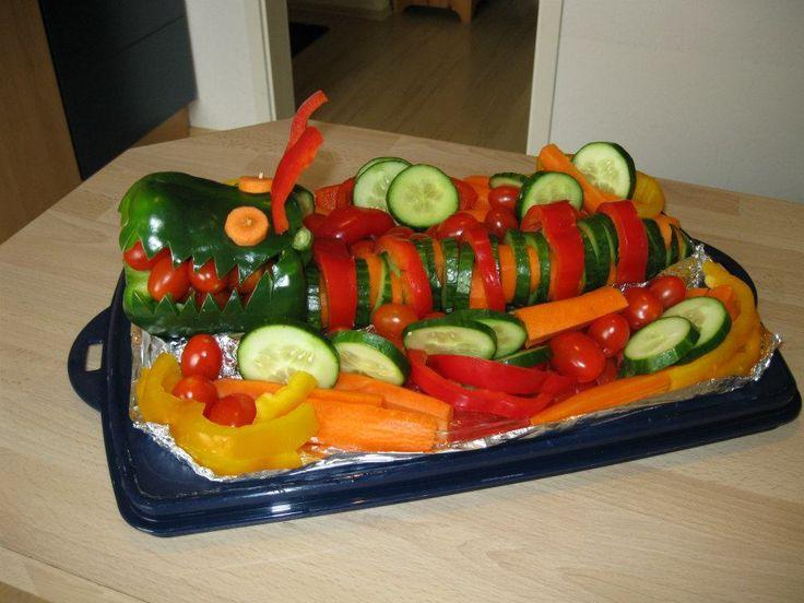 vegetable Dragon Birthday Party Snack Gemse Drache