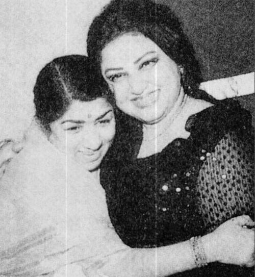 Lata Mangeshkar and Noor Jehan