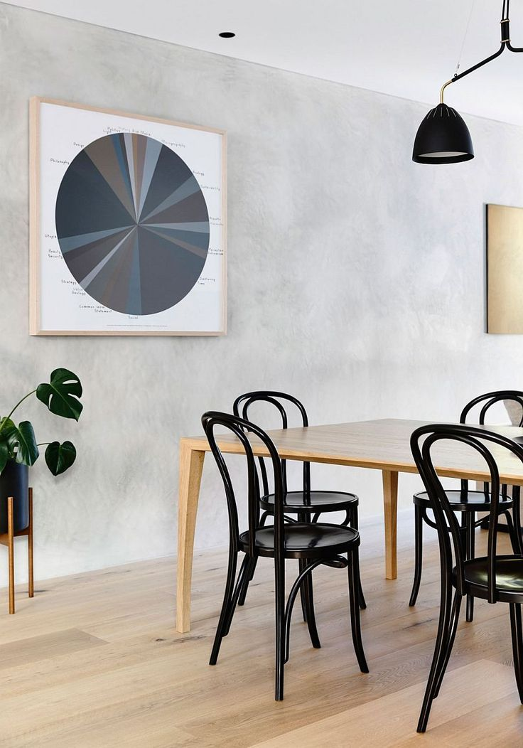 Perfect Black Dining Table Chairs Anchor The Light Filled And Cheerful Dining Room  | Dinning | Pinterest | Black Dining Tables, Modern Townhouse And Room Design Inspirations