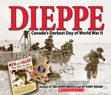 "Dieppe: Canada's Darkest Day of World War II by Hugh Brewster. On the night of August 19, 1942, five thousand Canadians launched an attack on the Nazi-held French port of Dieppe. When the disastrous raid was done, and the Allies were forced to retreat, nearly a thousand Canadian troops lay dead. Almost two thousand were taken prisoner. Some called it ""the bloodiest 9 hours in Canadian military history."" This book is a fascinating and haunting historical tour of a battle that took so many…"