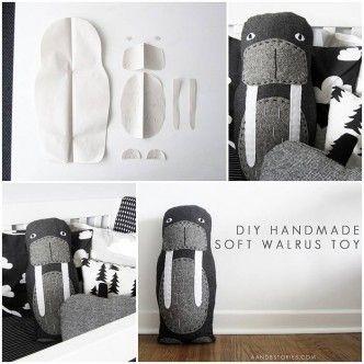 DIY Walrus Fabric Toy