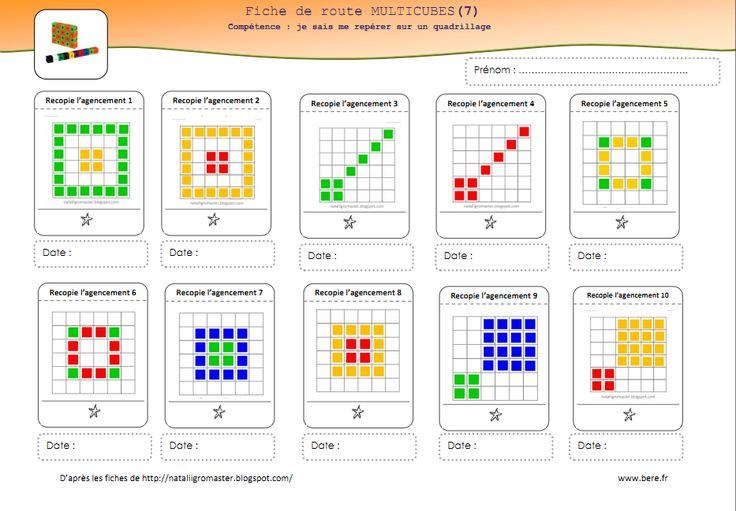 repérage sur quadrillage avec les multicubes. source:http://nataliigromaster.blogspot.com/