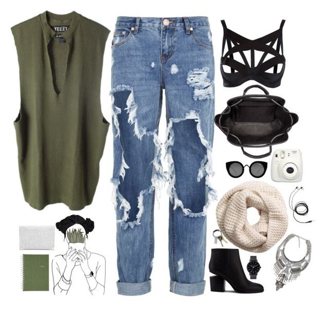 """""""Untitled #2656"""" by wtf-towear ❤ liked on Polyvore featuring One Teaspoon, adidas Originals, Alexander Wang, Agent Provocateur, Quay, H&M, CB2, The Horse and Mead"""
