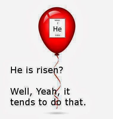 Atheism, Religion, God is Imaginary, Science. He is risen? Well, yeah, it tends to do that.